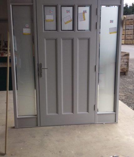 Wooden Door Being Built