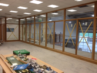 Wooden Screens Being Fitted - Dublin