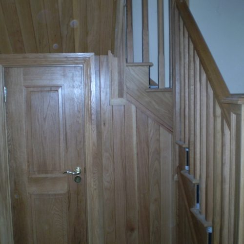 Wooden Stairs and Door in a Dublin Home