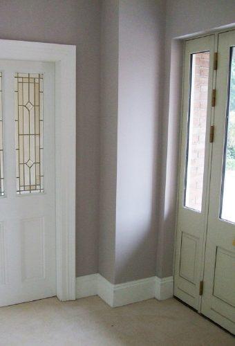 Front Door and Living Room Door
