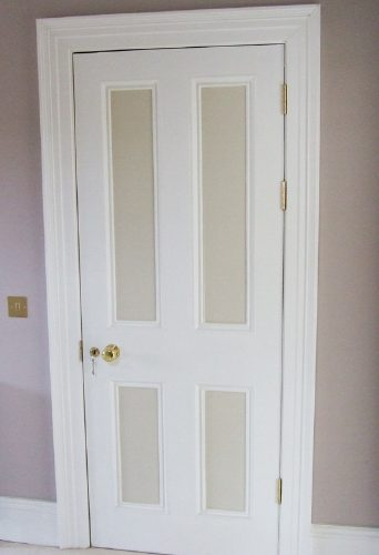 Wooden Wooden Door Being Fitted